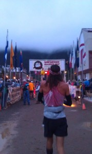 Walking up to the start of the 2013 Hardrock 100