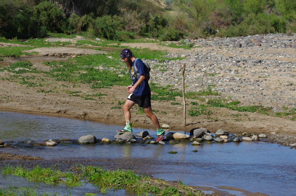 Crossing the Agua Fria at mile 39