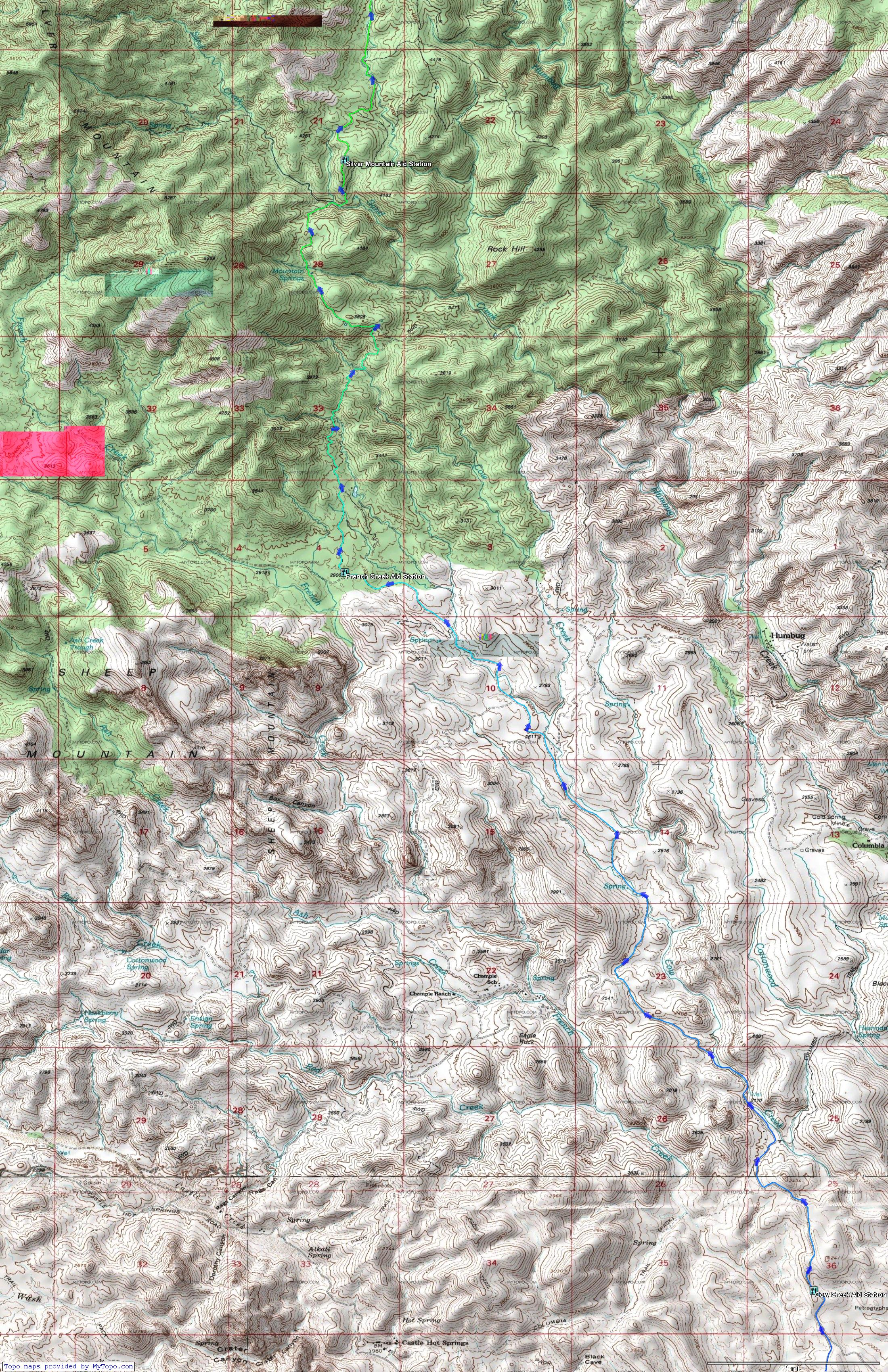 Map Of Crown King Arizona.Crown King Scramble Aravaipa Running